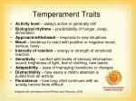 temperament traits28