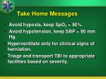 take home messages100