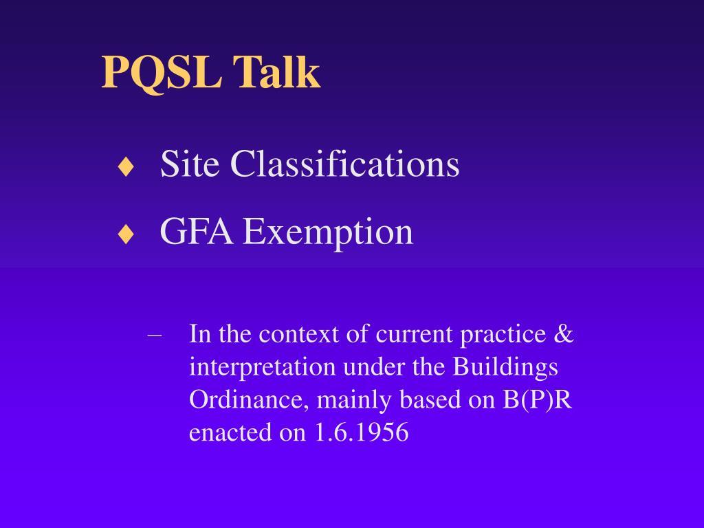 PQSL Talk