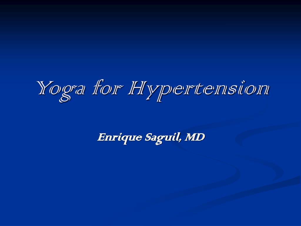 yoga for hypertension l.