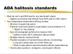 ada halitosis standards