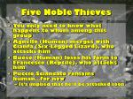 five noble thieves