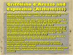 griffolino d arezzo and capocchio alchemists