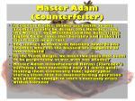master adam counterfeiter