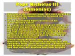 pope nicholas iii simoniac