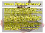 sinon false witness