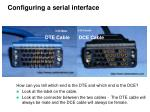 configuring a serial interface19