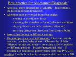 best practice for assessment diagnosis