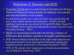 definition of tourettes and ocd