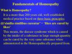 fundamentals of homeopathy