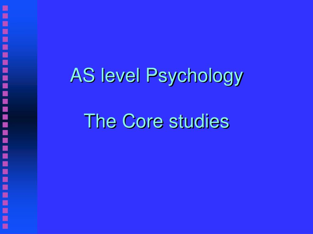 as level psychology the core studies l.