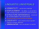 linguistic universals11