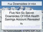 five downsides of hsa
