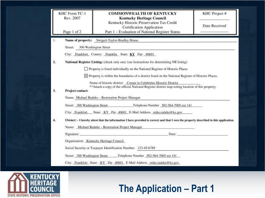 The Application – Part 1