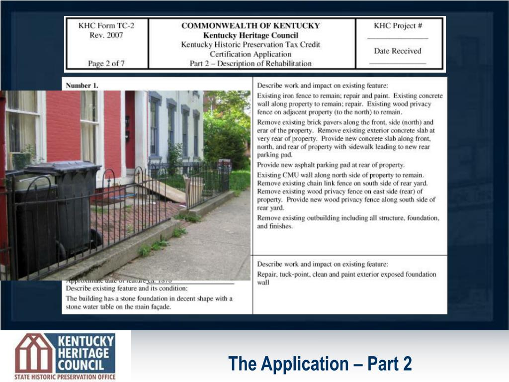 The Application – Part 2