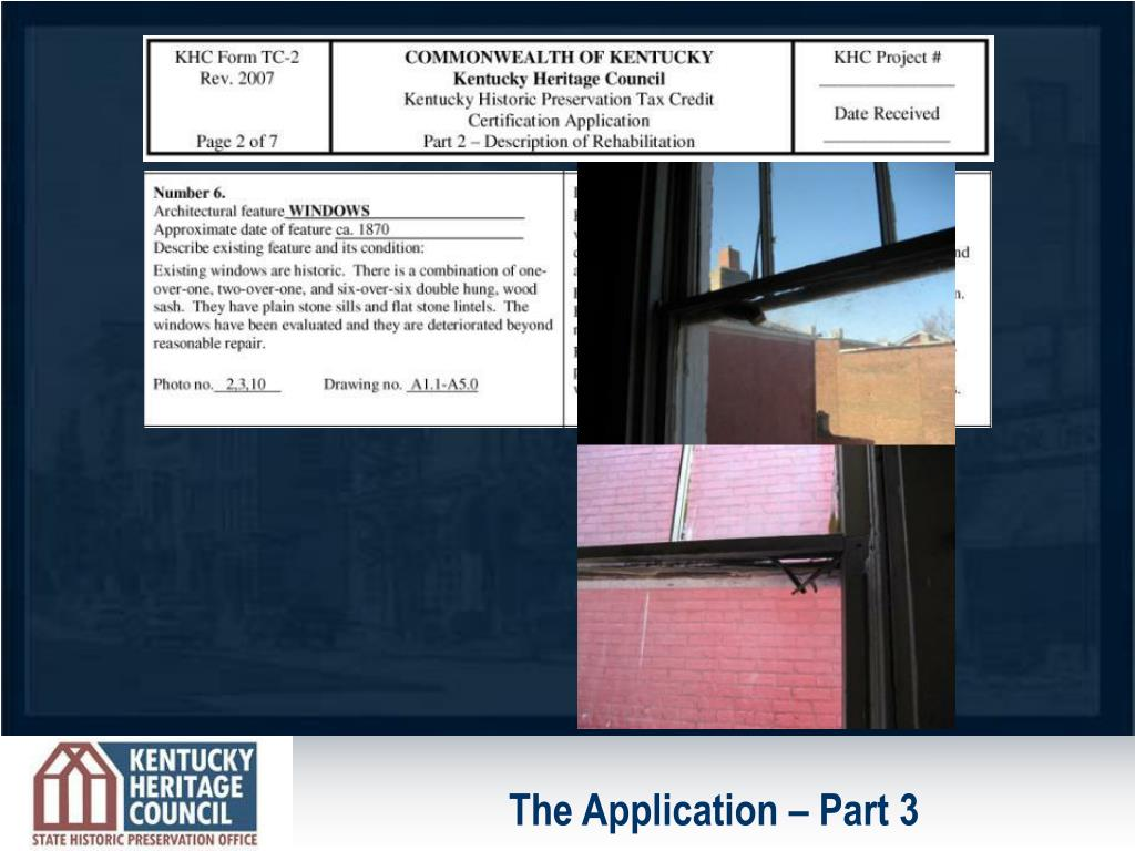 The Application – Part 3
