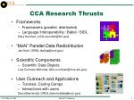 cca research thrusts