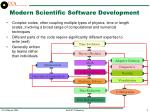 modern scientific software development