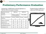 preliminary performance evaluation