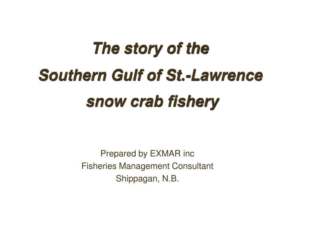 the story of the southern gulf of st lawrence snow crab fishery l.