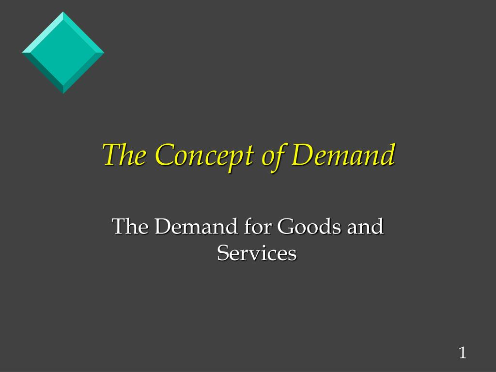 the concept of demand l.