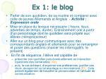 ex 1 le blog