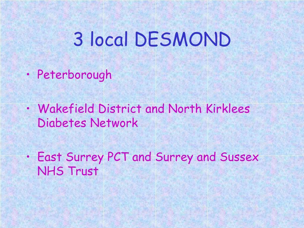 3 local DESMOND