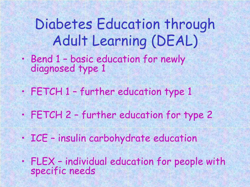 Diabetes Education through Adult Learning (DEAL)
