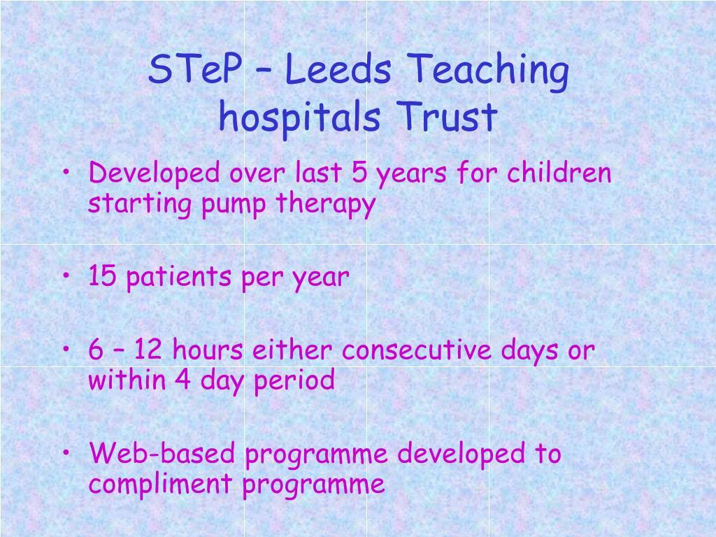 STeP – Leeds Teaching hospitals Trust