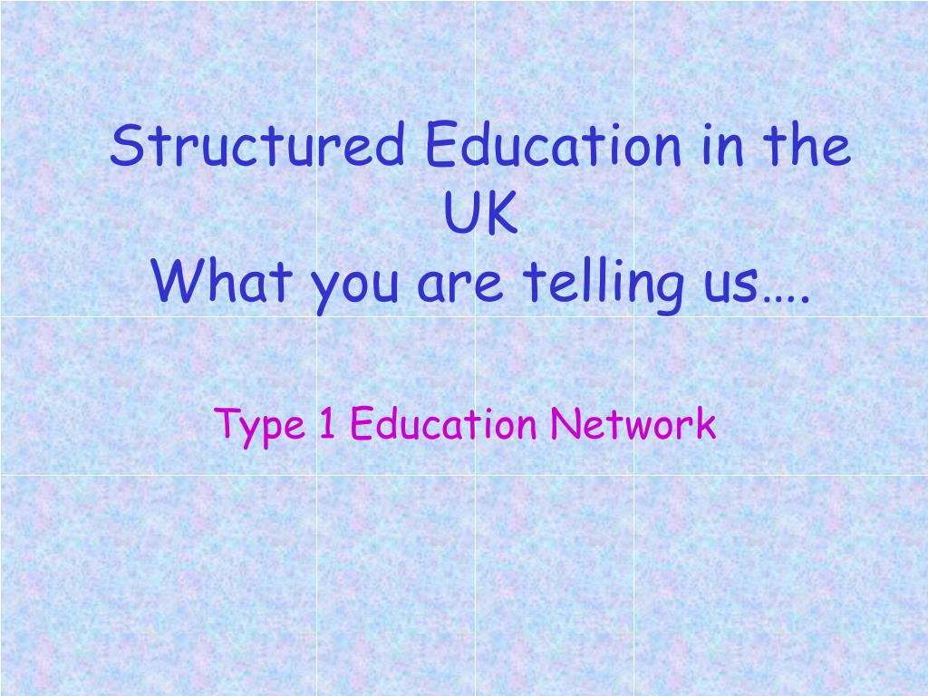 structured education in the uk what you are telling us l.