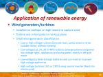 application of renewable energy21