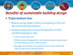 benefits of sustainable building design