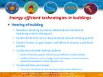 energy efficient technologies in buildings