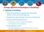 energy efficient technologies in buildings13