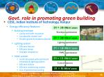 govt role in promoting green building32