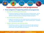 supporting policies and programmes