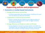 supporting policies and programmes40