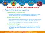supporting policies and programmes41