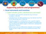 supporting policies and programmes42
