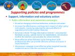 supporting policies and programmes43