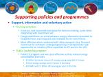 supporting policies and programmes44