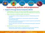 supporting policies and programmes46