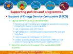 supporting policies and programmes50