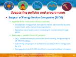 supporting policies and programmes51