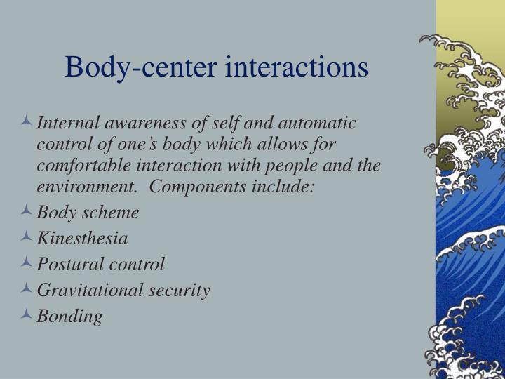 Body-center interactions