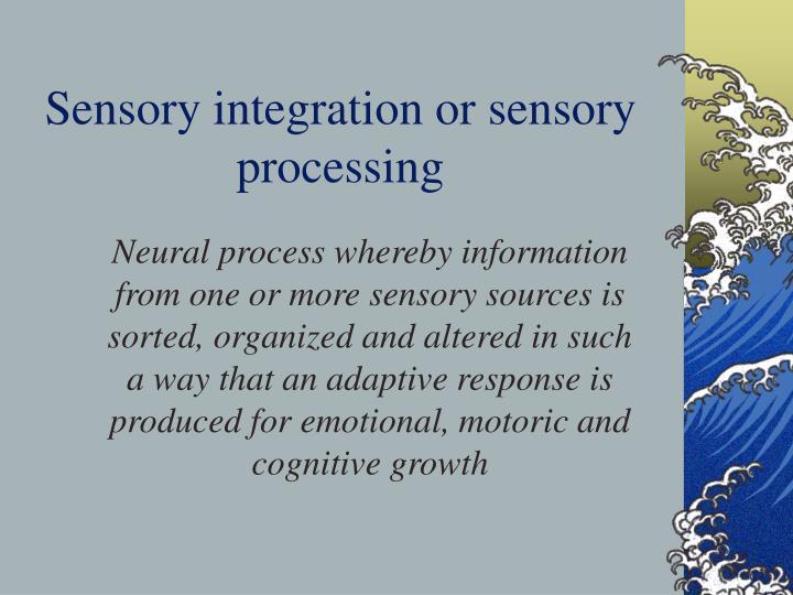 Sensory integration or sensory processing