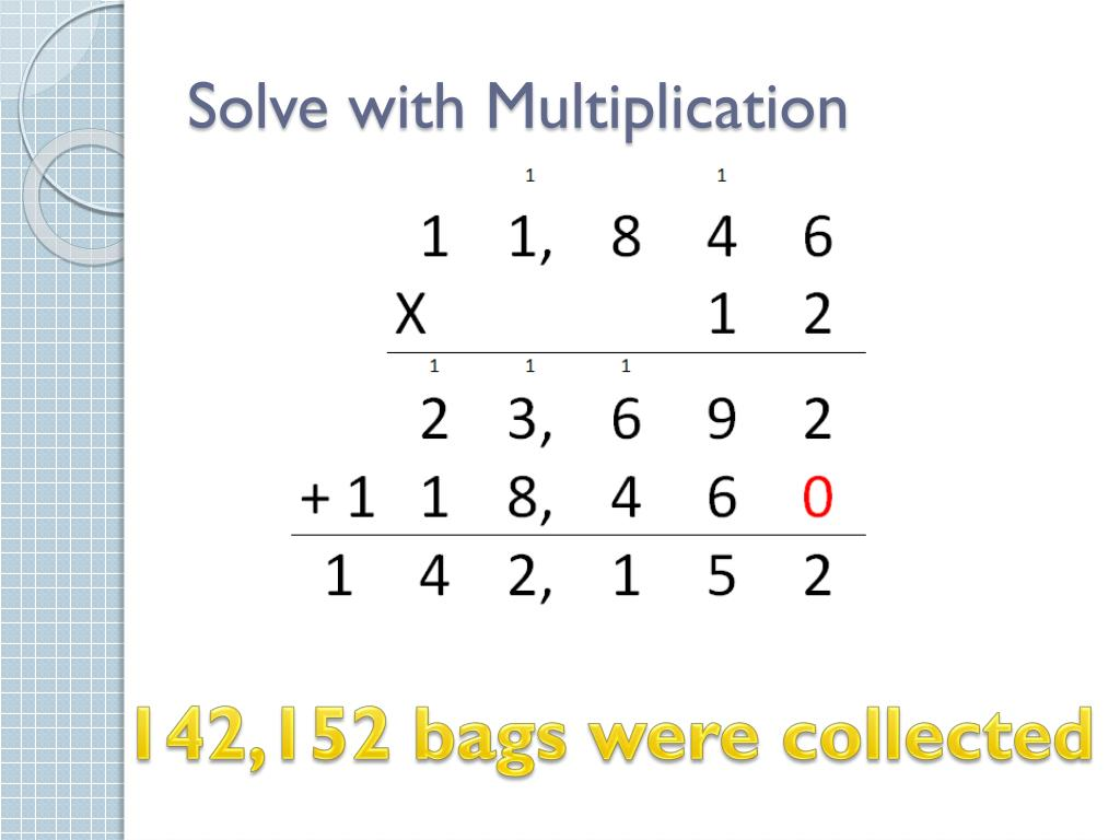 Solve with Multiplication