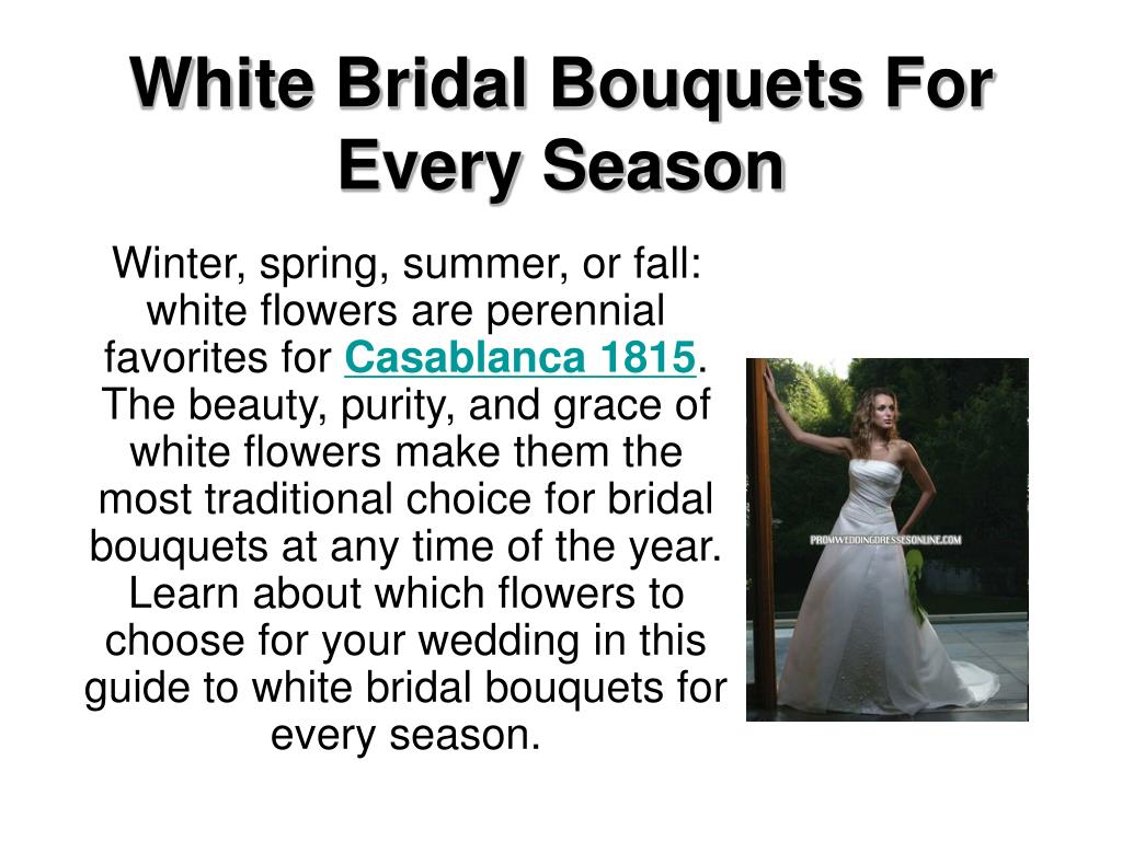 white bridal bouquets for every season l.