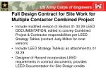 full design contract for site work for multiple contactor combined project