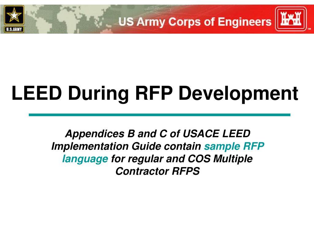leed during rfp development l.